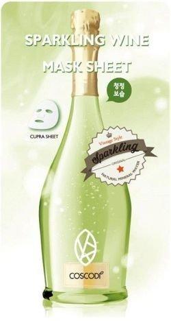 Nowość!!! COSCODI Koreańska szampańska maseczka nawilżająca na tkaninie 20 g