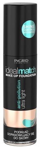 Nowość! INGRID COSMETICS Podkład dopasowujący się do koloru skóry IDEAL MATCH 403 Nude 30 ml