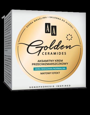 OCEANIC AA GOLDEN CERAMIDES aksamitny krem przeciwzmarszczkowy na dzień cera mieszana/normalna 50 ml