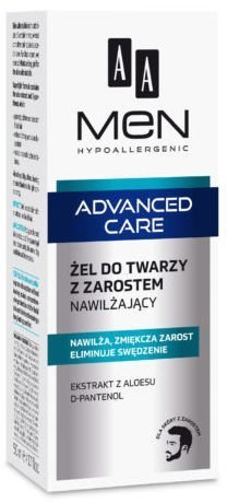 OCEANIC AA MEN ADVANCED CARE Żel do twarzy z zarostem nawilżający 50 ml