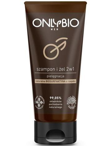 ONLYBIO Pielęgnacyjny szampon i żel  do mycia ciała 2w1 dla mężczyzn 200 ml