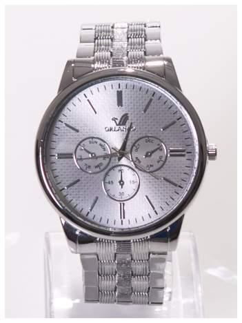 ORLANDO Elegancki  srebrny męski zegarek na bransolecie