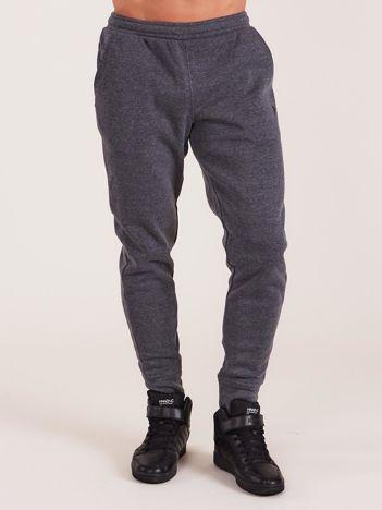 OUTHORN Ciemnoszare męskie spodnie dresowe