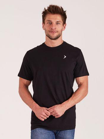 OUTHORN Czarny t-shirt męski