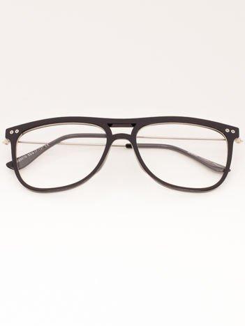 Okulary Zerówki Czarne Połysk