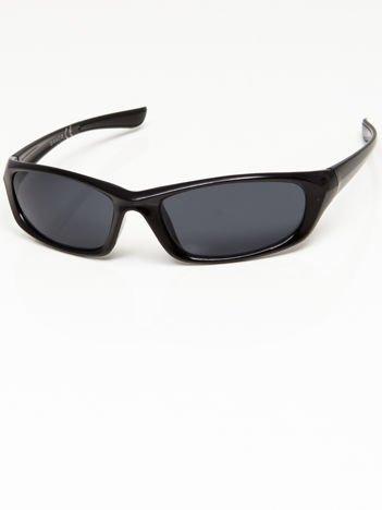 Okulary przeciwsłoneczne męskie w stylu sportowym szare soczewki