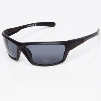 Okulary przeciwsłoneczne męskie w stylu sportowym szare szkło