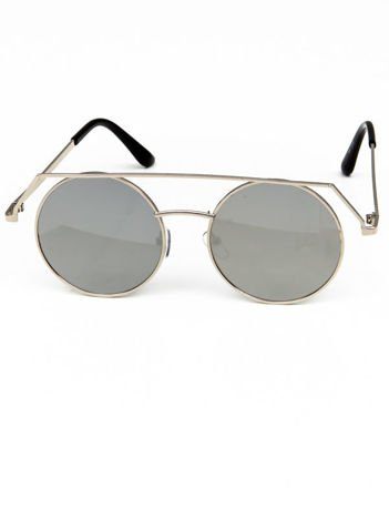 Okulary przeciwsłoneczne typu LENONKI RETRO duże okrągłe LUSTRZANKI
