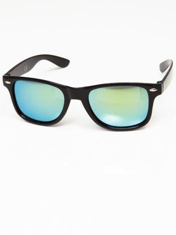 Okulary przeciwsłoneczne w stylu NERDY czarne lustrzanki morskie