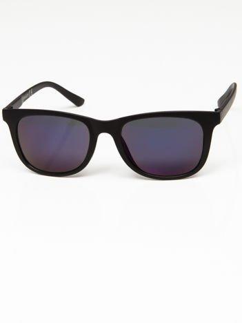 Okulary przeciwsłoneczne w stylu WAYFARER lustrzanki szaro-niebieskie