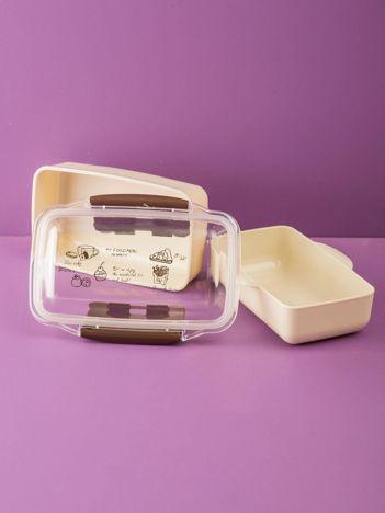 Oliwkowy podwójny lunchbox