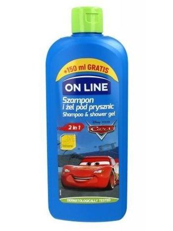 On Line Kids Disney Szampon i żel pod prysznic 2w1 Cars  400 ml