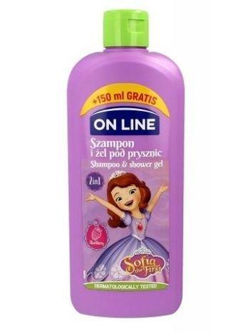 On Line Kids Disney Szampon i żel pod prysznic 2w1 Sofia the First  400 ml
