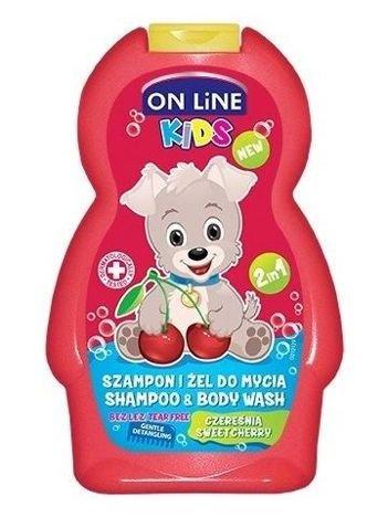 On Line Kids Szampon i żel do mycia ciała 2 w 1 Czereśnia  250 ml