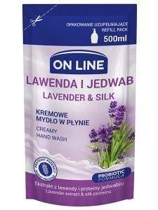 On Line Mydło w płynie kremowe Lawenda i Jedwab - uzupełnienie  500 ml