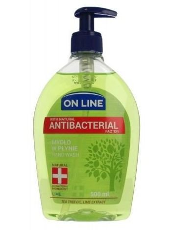 On Line Mydło w płynie z dozownikiem Antybakteryjne Lime  500 ml