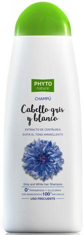 PHYTO NATURE Naturalny szampon do włosów jasnych i siwych z wyciągiem z bławatka 400 ml