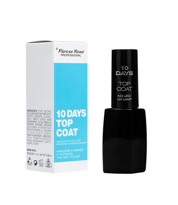 PIERRE RENE 10 days Top Coat Preparat nawierzchniowy przedłużający trwałość manicure do 10 dni