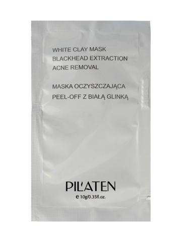 PILATEN Koreańska oczyszczająca maska peel-off z białą glinką 10g