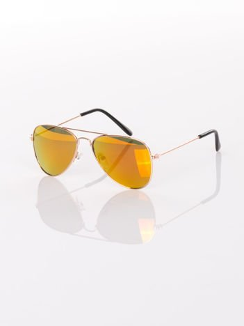 PILOTKI AVIATORY Z LUSTERM Stylowe okulary dziecięce z filtrami UV