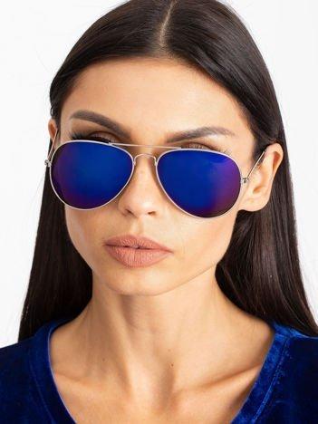 PILOTKI AVIATORY Z LUSTREM okulary przeciwsłoneczne