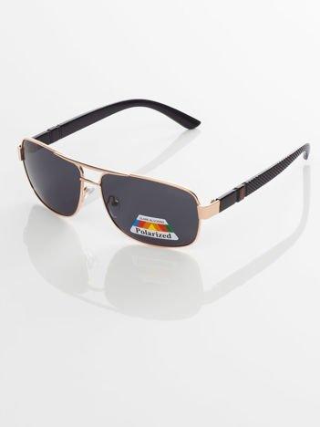 POLARYZACJA PILOTKI męskie okulary przeciwsłoneczne +GRATISY