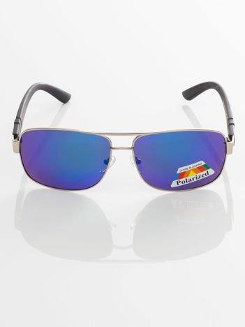POLARYZACYJNE PILOTKI LUSTRZANKI męskie okulary przeciwsłoneczne +GRATISY
