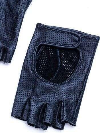 PREMIUM Czarne Skórzane Damskie Rękawiczki CAŁUSKI