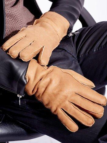 PREMIUM QUALITY Beżowe Skórzane Męskie Rękawiczki