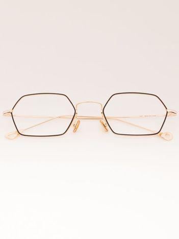 PREMIUM Złoto-czarne Okulary Zerówki