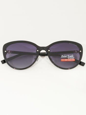 PREMIUM czarne damskie przeciwsłoneczne okulary POLARYZACYJNE