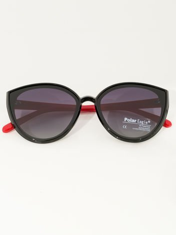 PREMIUM czerwono-czarne przeciwsłoneczne okulary POLARYZACYJNE