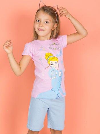 PRINCESS Różowa piżamka dla dziewczynki