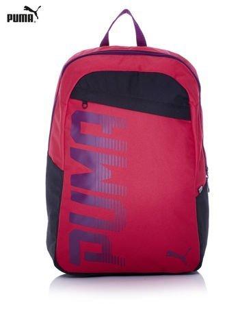 PUMA Różowy plecak szkolny z czarnymi wstawkami