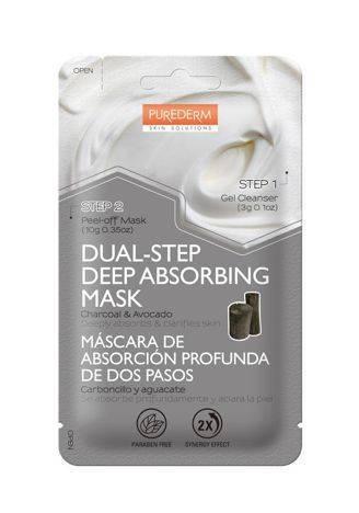 PUREDERM 2-etapowa maska regulująca wydzielanie sebum WĘGIEL DRZEWNY & AWOKADO 3+10 g