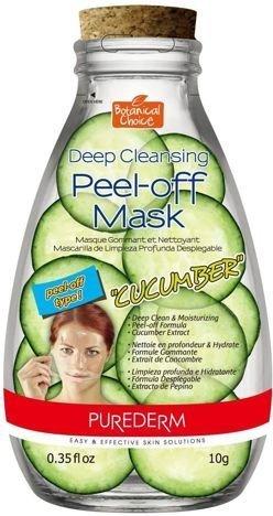 PUREDERM oczyszczająco-ściągająca maseczka na twarz OGÓREK 10 ml