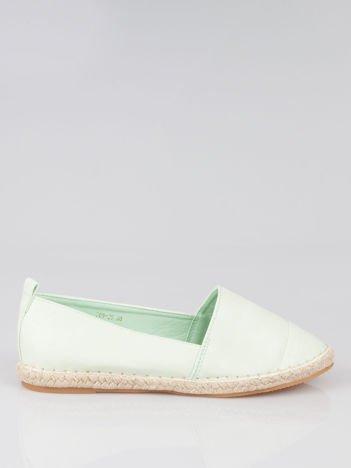 Pastelowozielone klasyczne espadryle Lofty Swag cap toe