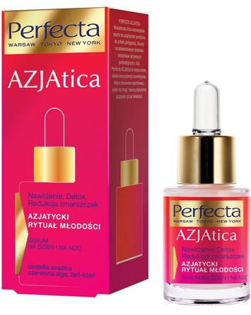 Perfecta Azjatica Serum na dzień i noc - Nawilżenie, Detox, Redukcja zmarszczek 15 ml
