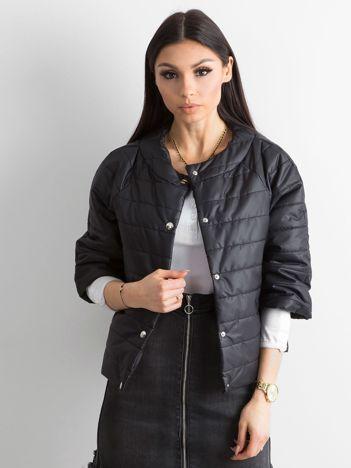 Pikowana kurtka damska czarna