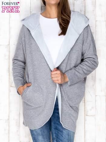 Płaszcz dresowy otwarty szary