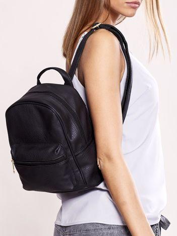 Plecak damski czarny ze skóry ekologicznej