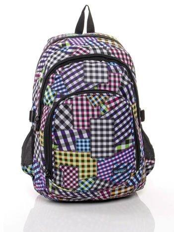 Plecak szkolny motyw kolorowej kratki