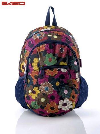 Plecak szkolny z nadrukiem kwiatów