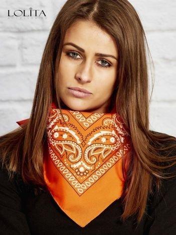 Pomarańczowa chusta bandanka
