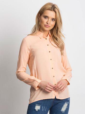Pomarańczowa lekka koszula