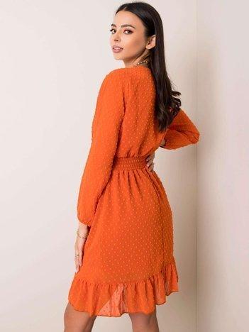 Pomarańczowa sukienka Fabiola RUE PARIS
