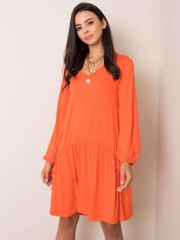 Pomarańczowa sukienka Luciana RUE PARIS