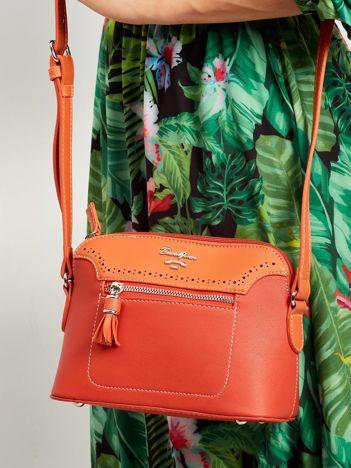 Pomarańczowa torebka listonoszka z ekoskóry