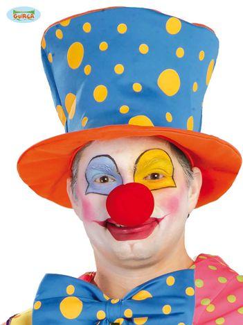 Pomarańczowo-niebieski kapelusz klauna