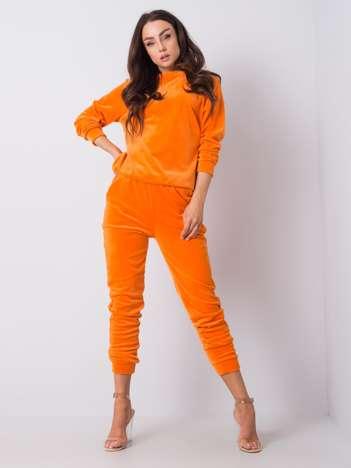Pomarańczowy komplet welurowy Brenda RUE PARIS